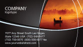 Nature & Environment: Recreational Fishing Business Card Template #05122