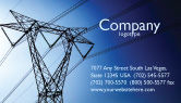 Careers/Industry: Power Lines Mast Business Card Template #05131