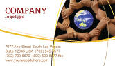 Global: Holding Hands Business Card Template #05147