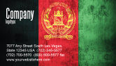 Flags/International: Afghanistan Business Card Template #05152