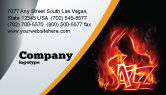 Art & Entertainment: Jazz Business Card Template #05158