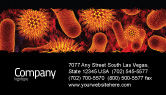 Medical: Microbiology Material Business Card Template #05164