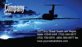 Cars/Transportation: Air Flight Business Card Template #05206