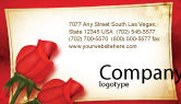 Holiday/Special Occasion: Red Roses Card Business Card Template #05207