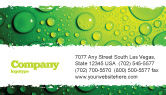 Abstract/Textures: Green Water Drops Business Card Template #05216