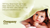 People: Baby Under Blanket Business Card Template #05234