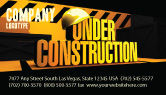 Business Concepts: Closed Under Construction Business Card Template #05236