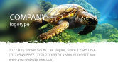 Agriculture and Animals: Zeeschildpad Visitekaartje Template #05237