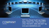 Technology, Science & Computers: Networking Connection Star Type Business Card Template #05256