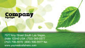 Nature & Environment: Green Leaf Falling Business Card Template #05260