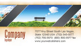 Nature & Environment: Bench Business Card Template #05275
