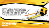 Careers/Industry: Tape Measure Business Card Template #05282