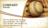 Sports: American Baseball Business Card Template #05296