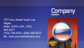 Flags/International: Russian Flag Business Card Template #05313