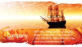 Cars/Transportation: Sailing Ship Business Card Template #05333