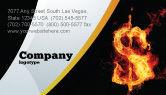 Financial/Accounting: Flaming Dollar Visitekaartje Template #05347