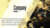 Military: Military Helicopter Business Card Template #05348
