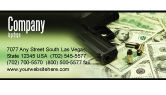 Financial/Accounting: Money and Guns Business Card Template #05349