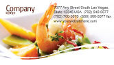 Food & Beverage: Shrimp Business Card Template #05355
