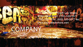 Art & Entertainment: Graffiti Zone Visitekaartje Template #05376