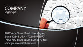 Consulting: Detailed Searching Business Card Template #05386