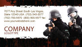 Military: SWAT Business Card Template #05404