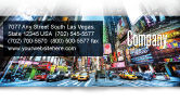 Construction: Times Square Business Card Template #05456