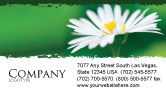 Nature & Environment: Daisy Chain Business Card Template #05462