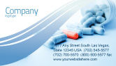 Medical: Drug Therapy Business Card Template #05497