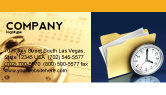 Business: Document Workflow Business Card Template #05499