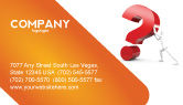 Consulting: Question Business Card Template #05578
