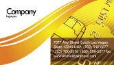 Financial/Accounting: Bank Credit Card Visitekaartje Template #05643