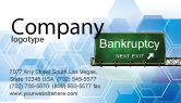 Financial/Accounting: Bankrupt Business Card Template #05652