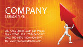 Financial/Accounting: Forcing Improving Growth Business Card Template #05700