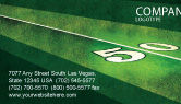 Sports: American Football Field Business Card Template #05744