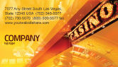 Careers/Industry: Casino Business Card Template #05811