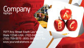 Education & Training: Apples ABC Business Card Template #05849