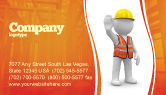 Construction: Symbolic Figure Of A Builder Business Card Template #05877