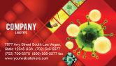 Technology, Science & Computers: Modèle de Carte de visite de virus vert sur fond rouge #05936