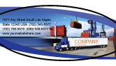 Cars/Transportation: Seaport Business Card Template #06007