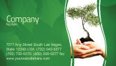 Nature & Environment: Growth Business Card Template #06130