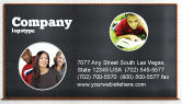 Education & Training: Blackboard Business Card Template #06184