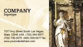 Legal: Lady Justice Business Card Template #06281