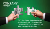 Financial/Accounting: Money Puzzles Business Card Template #06367