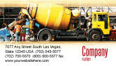 Construction: Concrete Agitator Business Card Template #06449