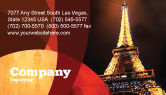 Flags/International: Holiday Eiffel Tower Business Card Template #06450