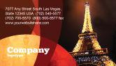 Flags/International: Modello Biglietto da Visita - Per le vacanze torre eiffel #06450