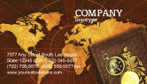 Education & Training: Historical Exploration Business Card Template #06590