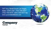 Global: Templat Kartu Bisnis Bola Dunia #06636
