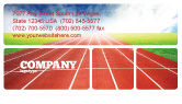 Sports: Race Track Business Card Template #06677